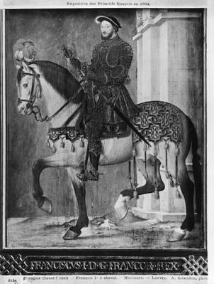 Equestrian portrait of King Francis I of France
