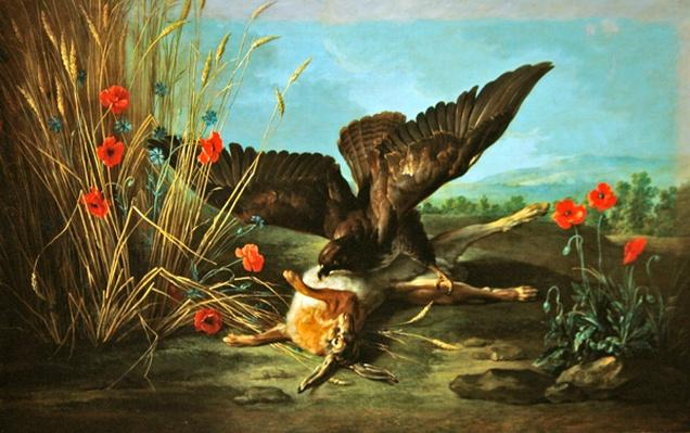 A Buzzard Overturning a Hare, or The Hawk and the Hare, 1749