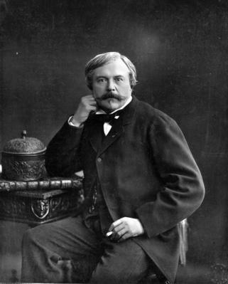 Edmond de Goncourt, from 'Galerie Contemporaine', c.1874-78