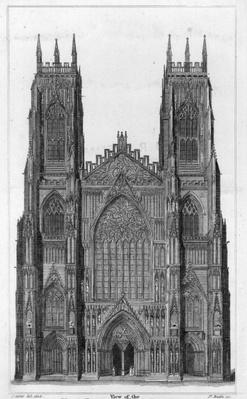 View of the West Front of York Cathedral, engraved by James Basire II, 1806