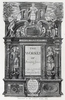 Title page to 'The Works of Benjamin Jonson', 1616