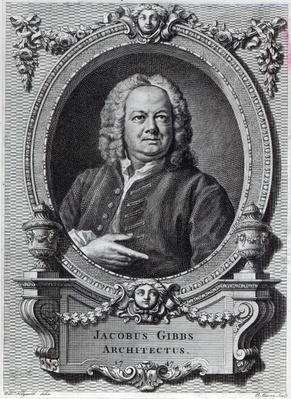 James Gibbs, engraved by Bernard Baron, 1747