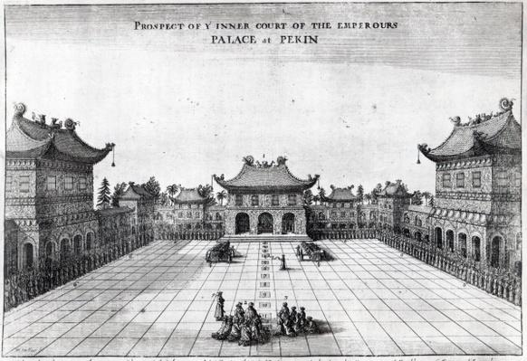Prospect of the Inner Court of the Emperor's Palace at Pekin, 1669