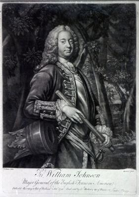 Sir William Johnson, engraved by Charles Spooner, 1756