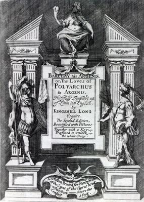 Frontispiece for 'Argenis' by John Barclay, second English edition, 1636