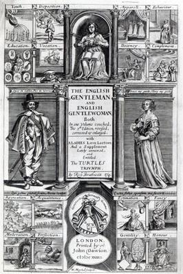 Frontispiece to 'The English Gentleman and English Gentlewoman' by Richard Braithwaite, 1641