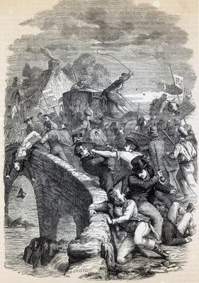 The Edinburgh mob carrying Captain Porteus to execution