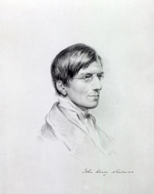 The Very Rev. J.H Newman, engraved by John Alfred Vinter, 1850