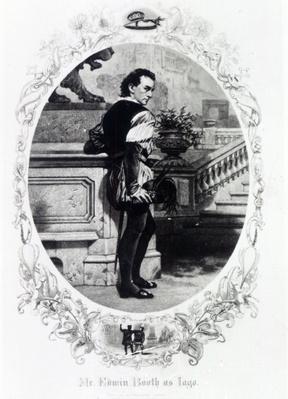 Mr. Edwin Booth as Iago
