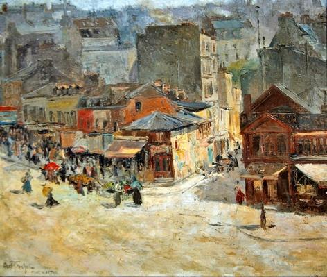 Street scene in Montmartre