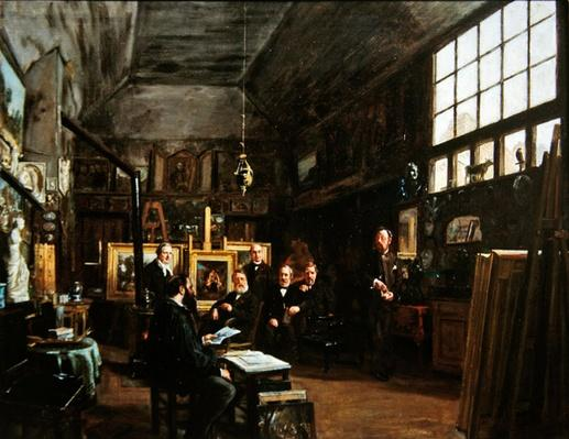 Meeting of the board of the Artesian Society of the Friends of the Arts, after 1874