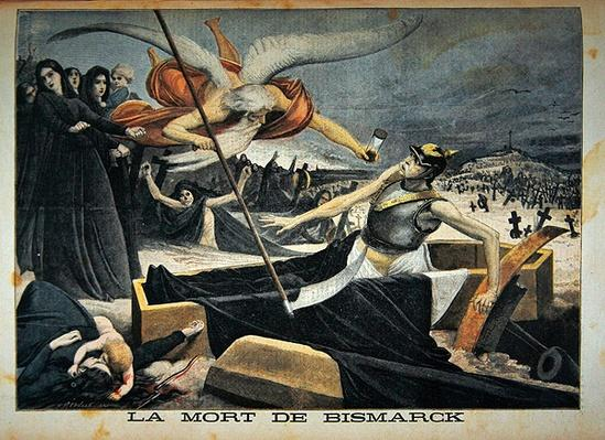The death of Bismarck, illustration from the illustrated supplement of Le Petit Journal, 14th August, 1898