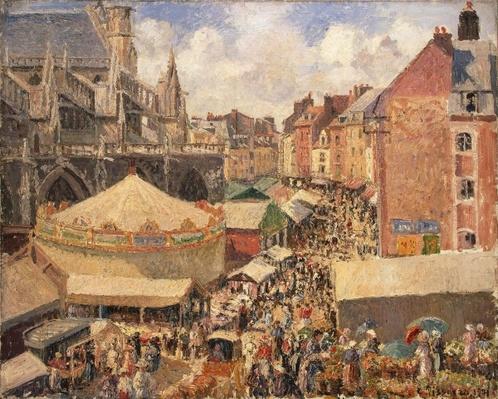 The Fair in Dieppe, Sunny Morning, 1901