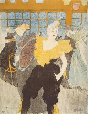 The Clownesse in the Moulin Rouge, 1897