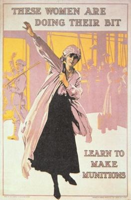 Poster depicting women making munitions