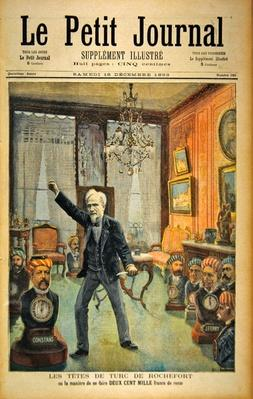 Rochefort's Whipping Boys, or how to make two hundred thousand francs, from the front page of the illustrated supplement of 'Le Petit Journal', 16th December 1893