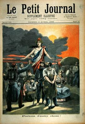 The Panama Affair, from the front page of the illustrated supplement of 'Le Petit Journal', 8th April 1893