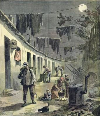 The ragpickers of Paris, illustration from the illustrated supplement of Le Petit Journal, 27th August, 1892