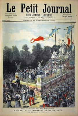 Title page depicting the national holiday on 22nd September celebrating the centennial of the proclamation of the Republic