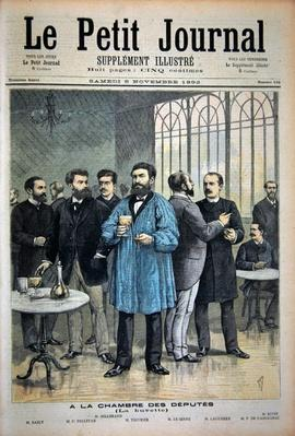 Title page depicting the bar in the House of Deputies, illustration from the illustrated supplement of Le Petit Journal, 5th November, 1892