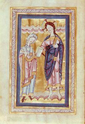 Aa 21 fol.2v Dedication of the book to Christ, from the Gospel of Countess Judith, 1065/70