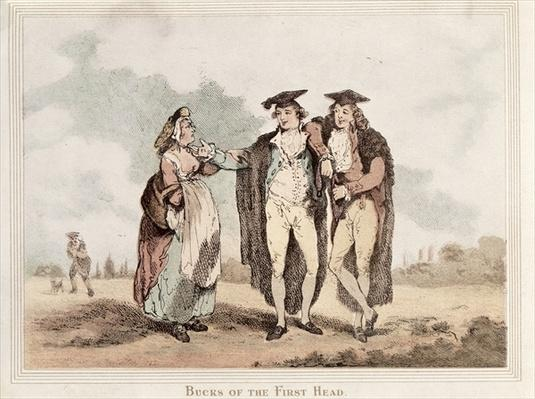 Bucks of the First Head, cartoon of Oxford undergraduates