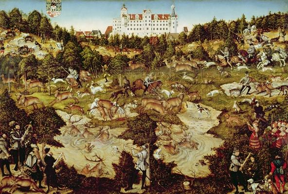 Hunt in Honour of the Emperor Charles V near Hartenfels Castle, Torgau, 1544