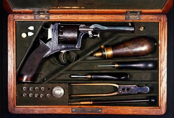 Rare ten-shot Deane, Adams & Deane revolver made under licence in Germany