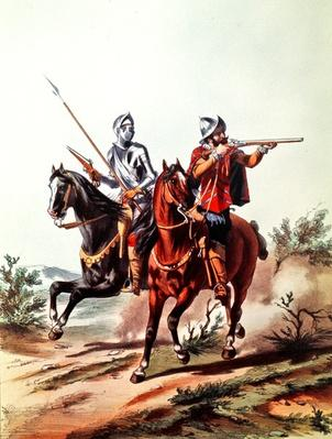 French cavalry armed with wheel-lock pistols