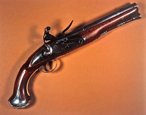 Flintlock pistol made by James Barbar of London, 1715