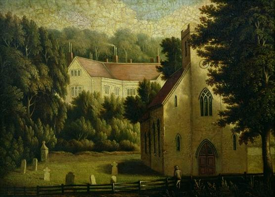 Chawton House and Church, 1809