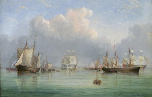 Ships off Ryde