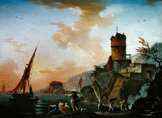 View of a Mediterranean port