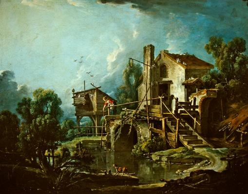 The Quiquengrogne windmill at Charenton, or the Charenton Windmill, c.1750-60
