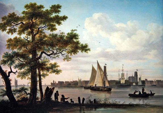 Town on an estuary, c.1801-02