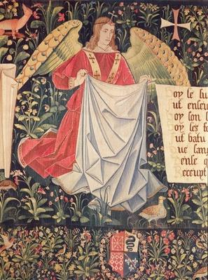 Angel holding the shroud, detail from 'The Angels Bearing Instruments of the Passion'
