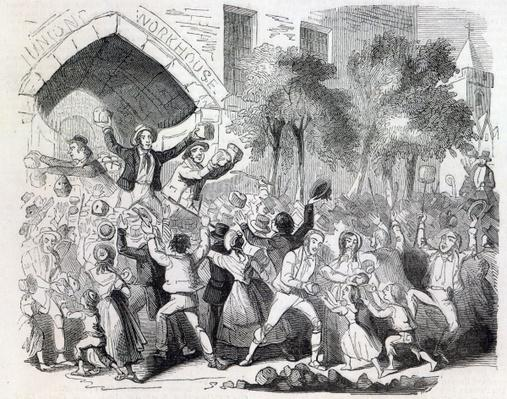 Attack on the Workhouse at Stockport in 1842