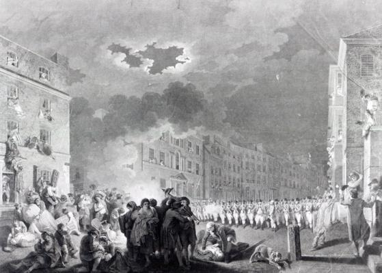 Riot in Broad Street, June 1780