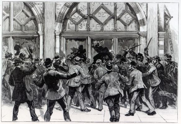 Rioting in the West End of London, illustration from 'The Graphic', February 13th 1886