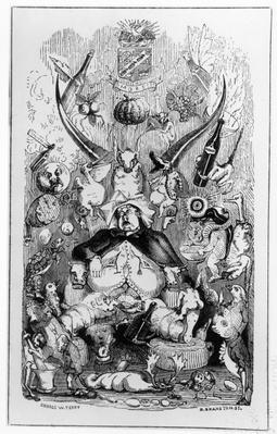 Frontispiece to 'Memoirs of a Stomach' by The Minister for the Interior, 1850