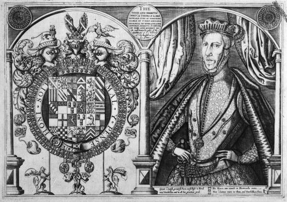 Thomas Howard, 4th Duke of Norfolk and his coat of arms, 1616