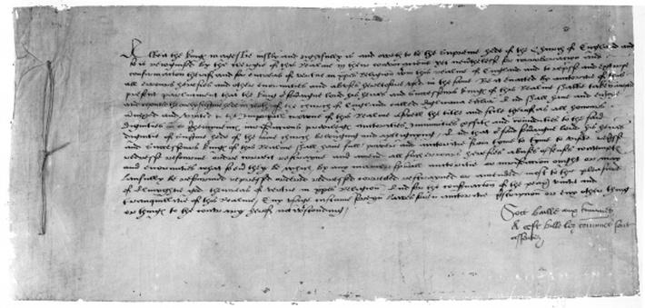 The Act of Supremacy recognising Henry VIII as the head of the Church of England, 1534