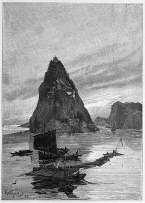 Rock of the Little Orphan on the Yangtze River, 1893
