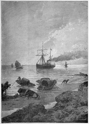 The steamship Vladivostok on the Yangtze River, part of the Tsarevich's 'Eastern Journey', 1893
