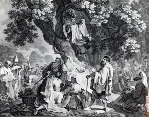 The Druids, or the Conversion of the Britons to Christianity, engraved by Simon Francois Ravenet, printed in 1778