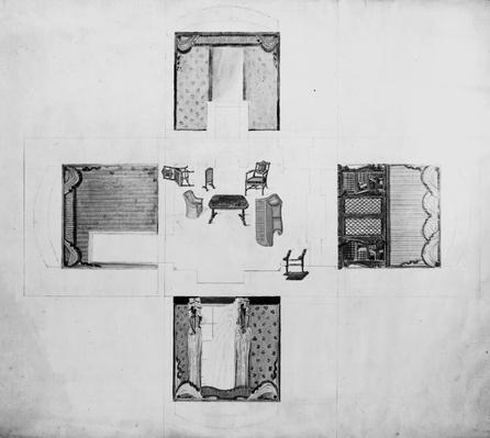Furnishings for a small drawing room, Gillows and Co, 1822