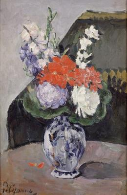 Flowers in a Small Delft Vase, c.1873