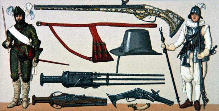 French soldiers and firearms of the 17th century