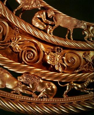 Scythian milking a ewe and lion attacking a boar