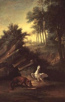 The Fox and the Stork, 1747